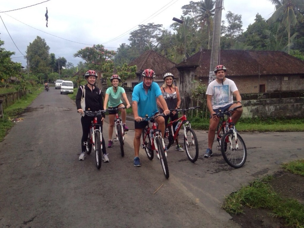 NIH guests enjoying an early morning bike ride on retreat.